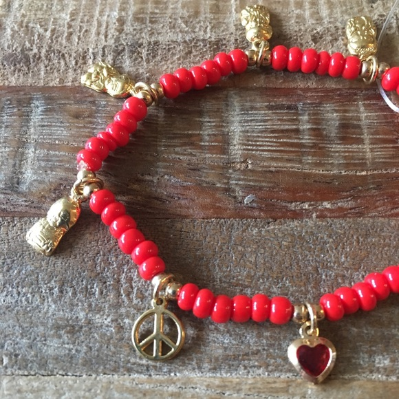 a7699805e38b4 NWT Red Charm Bracelet NWT